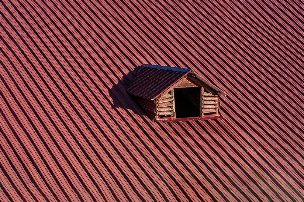 Домик на крыше.