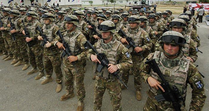 Открытие совместного учебно-тренировочного центра НАТО в Грузии