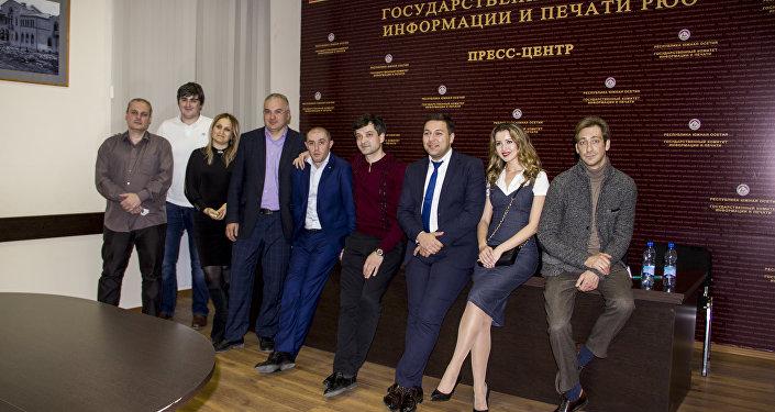 Участники фильма Соврешь-умрешь и югоосетинские журналисты.