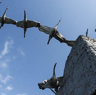 Памятник семи братьям Газдановым у селения Дзуарикау