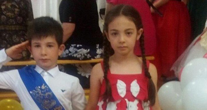 Сабина Битиева и ее брат Давид