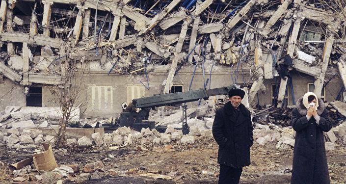 Город Спитак после землетрясения