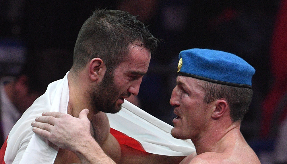 Лебедев поздравил Гассиева с победой.