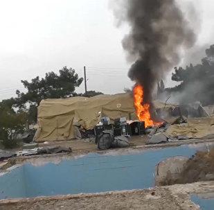 СПУТНИК_В Алеппо боевики обстреляли госпиталь Минобороны РФ. Съемка очевидцев