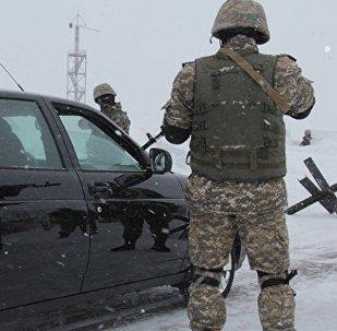 Сотрудники спецназа Казахстана