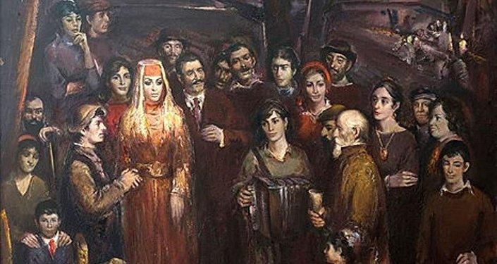 Свадьба, работа Казбека Хетагурова