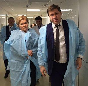Заместитель председателя правительства России Ольга Голодец  осмотрела Североосетинский сосудистый центр.