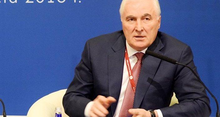 Президент РЮО Леонид Тибилов на форуме в Москве