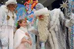 Дед Мороз и Снегурочка на Кремлевской новогодней елке.