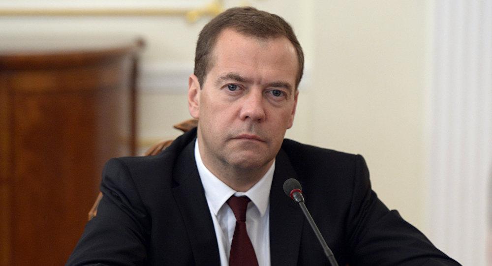 Премьер министр России Дмитрий Медведев