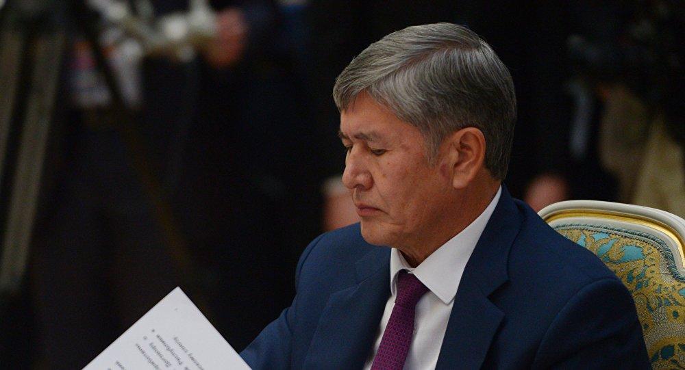Президент Киргизии А. Атамбаев