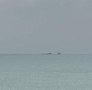 Первые кадры с места падения летевшего в Латакию самолета Ту-154