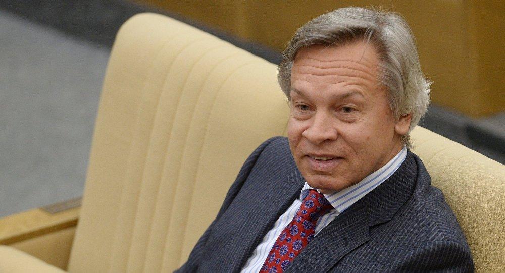 Председатель комитета Государственной Думы РФ по международным делам Алексей Пушков.