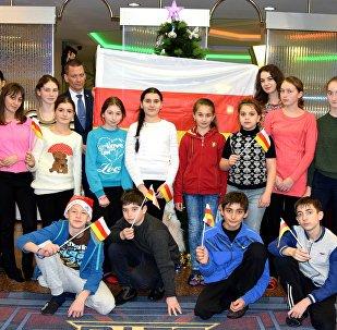 Дети из Южной Осетии, побывавшие на Кремлевской елке в Москве