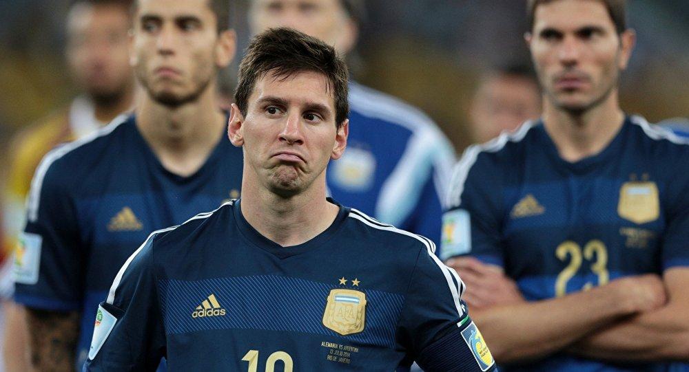 Игрок сборной Аргентины по футболу Лионель Месси