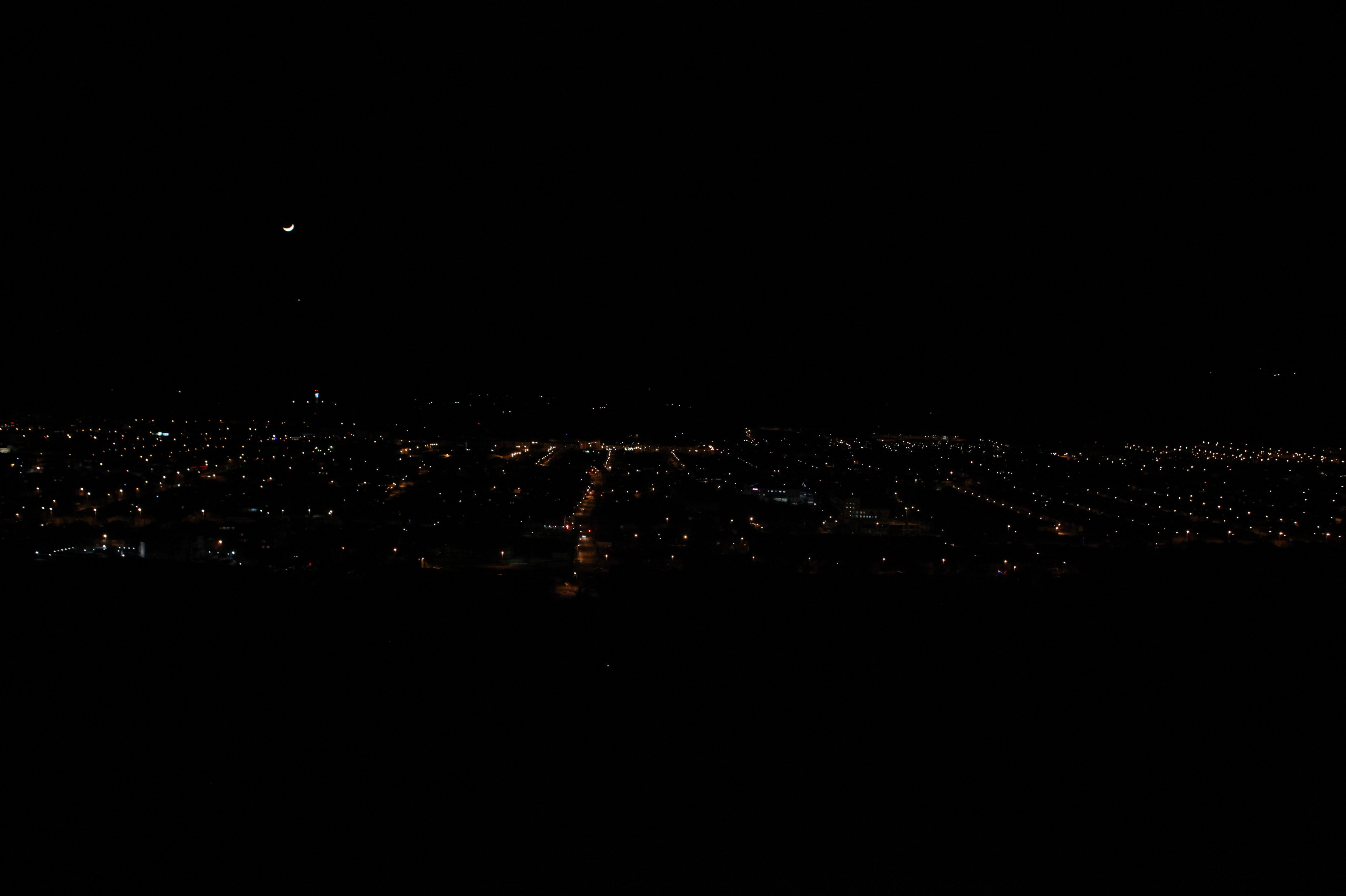 Месяц и звезды над Цхинвалом.