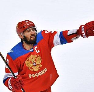 Игрок сборной России Александр Овечкин