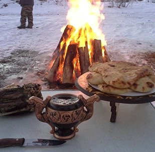 Традиционный новогодний стол в Южной Осетии