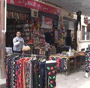 СПУТНИК_Открытие уличного рынка в Алеппо