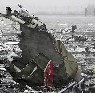 На месте крушения пассажирского самолета