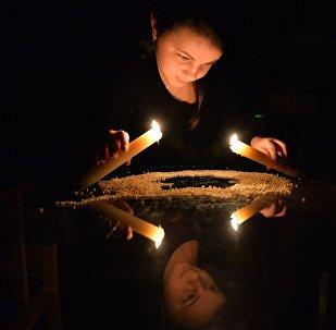 Празднование Рождества в белорусской деревне Погост