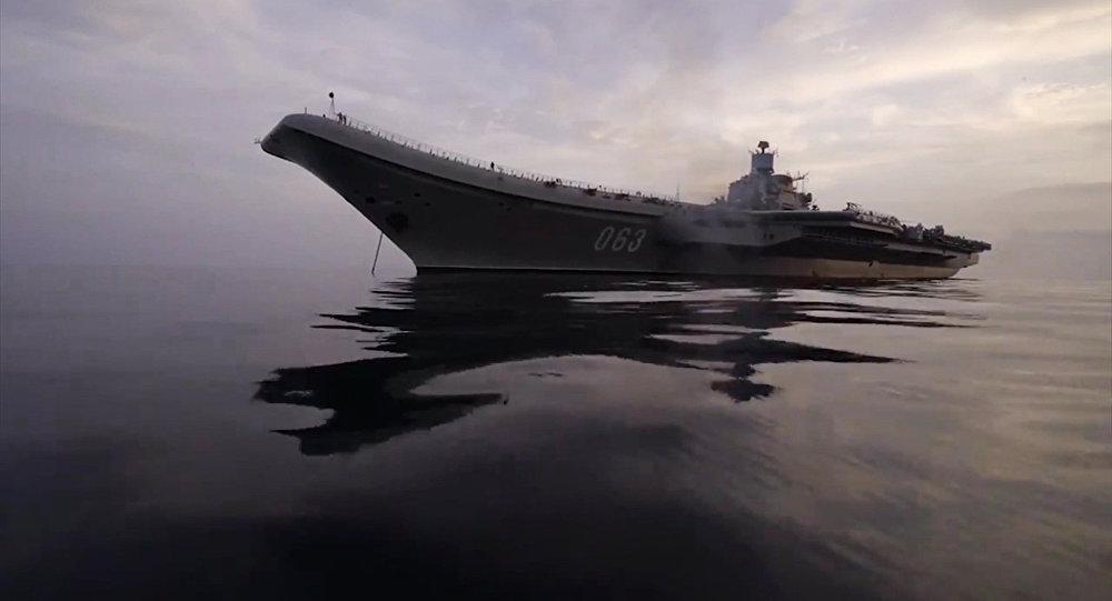 Тяжёлый авианесущий крейсер (ТАВКР) Адмирал Кузнецов в Средиземном море