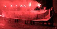 Акция протеста у американского посольства в Москве