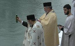 Цхинвальцы массово крестились в водах Лиахвы
