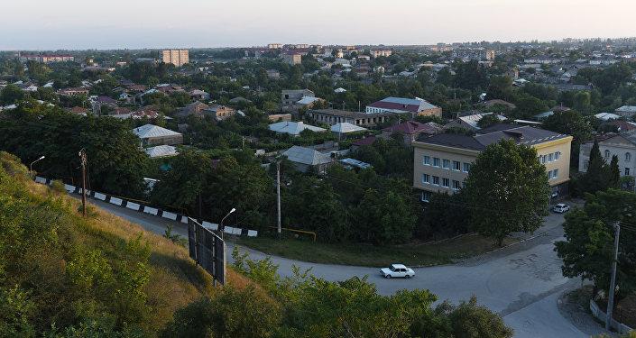 Вид на город Цхинвал