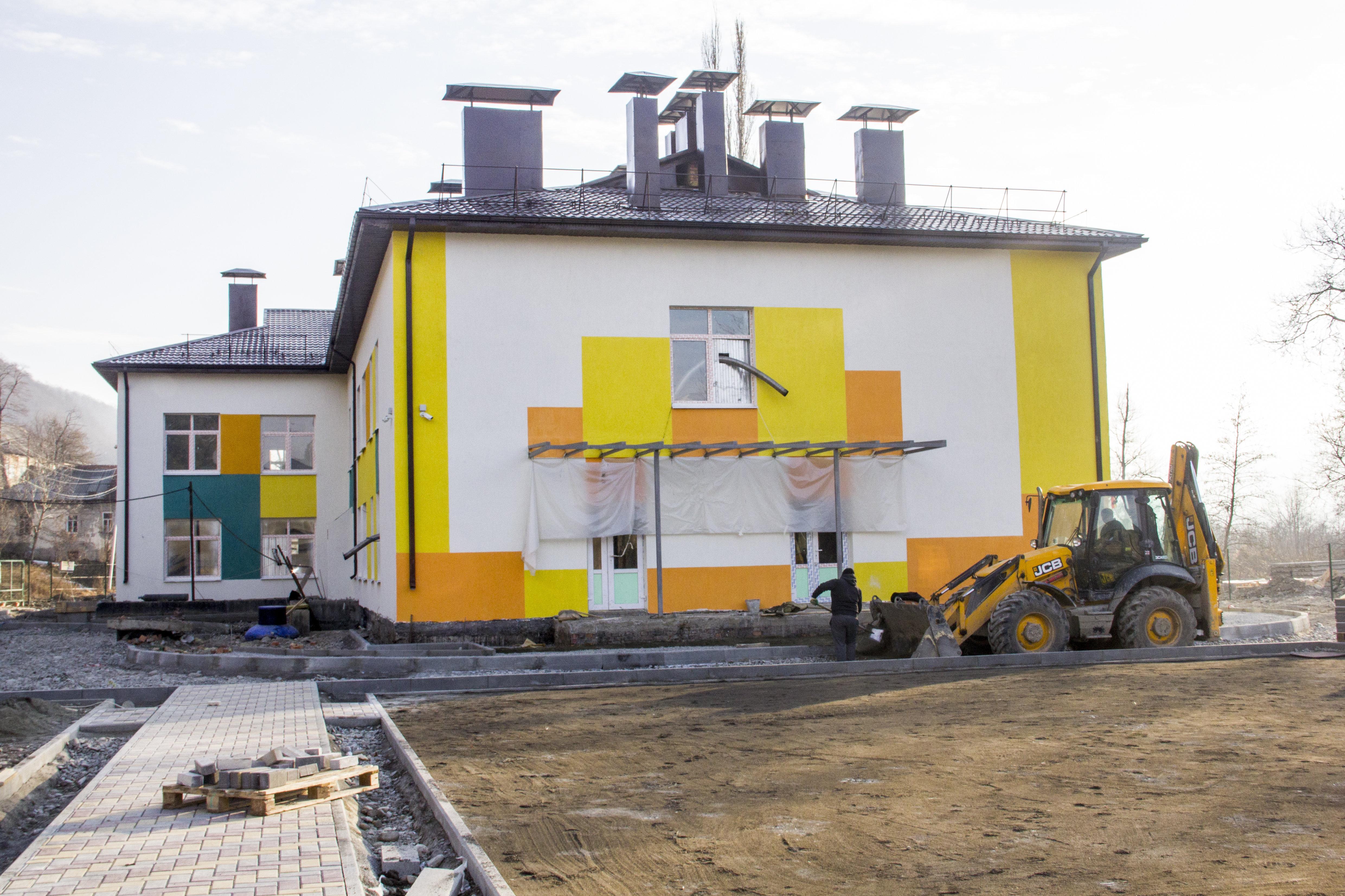 Строящийся детский сад в поселке Ленингор