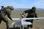 Военнослужащие ЮВО готовят к полету беспилотный летательный аппарат