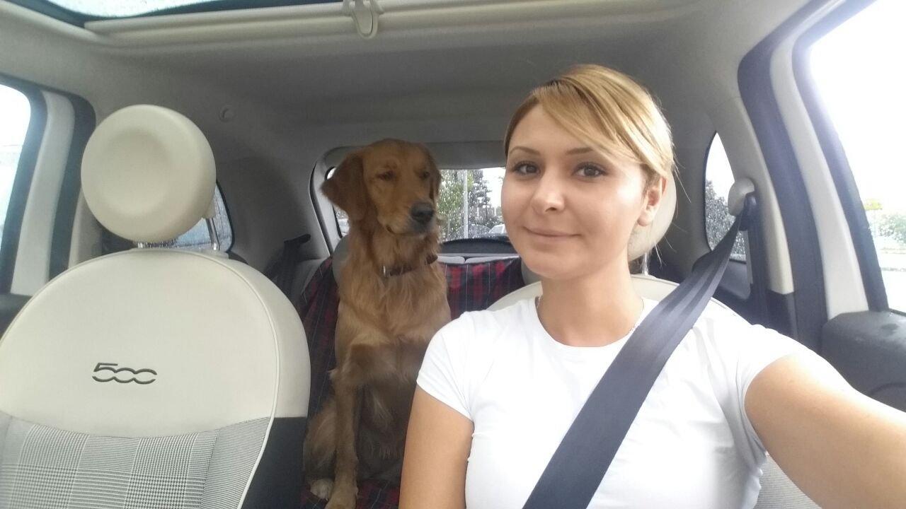 Ирма со своей собакой Луной