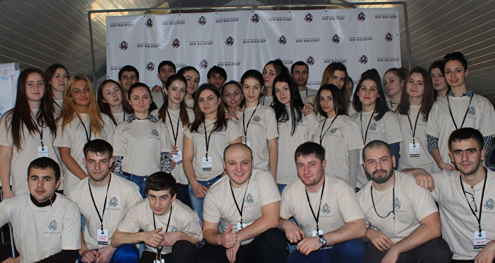 Участники школы молодежного актива в Фиагдоне