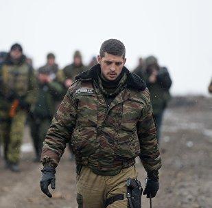 Ополченец Донецкой народной республики с позывным Гиви
