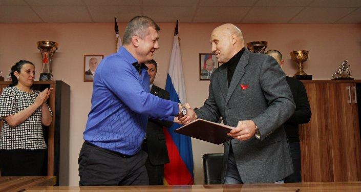 Подписание соглашения о сотрудничестве федераций борьбы