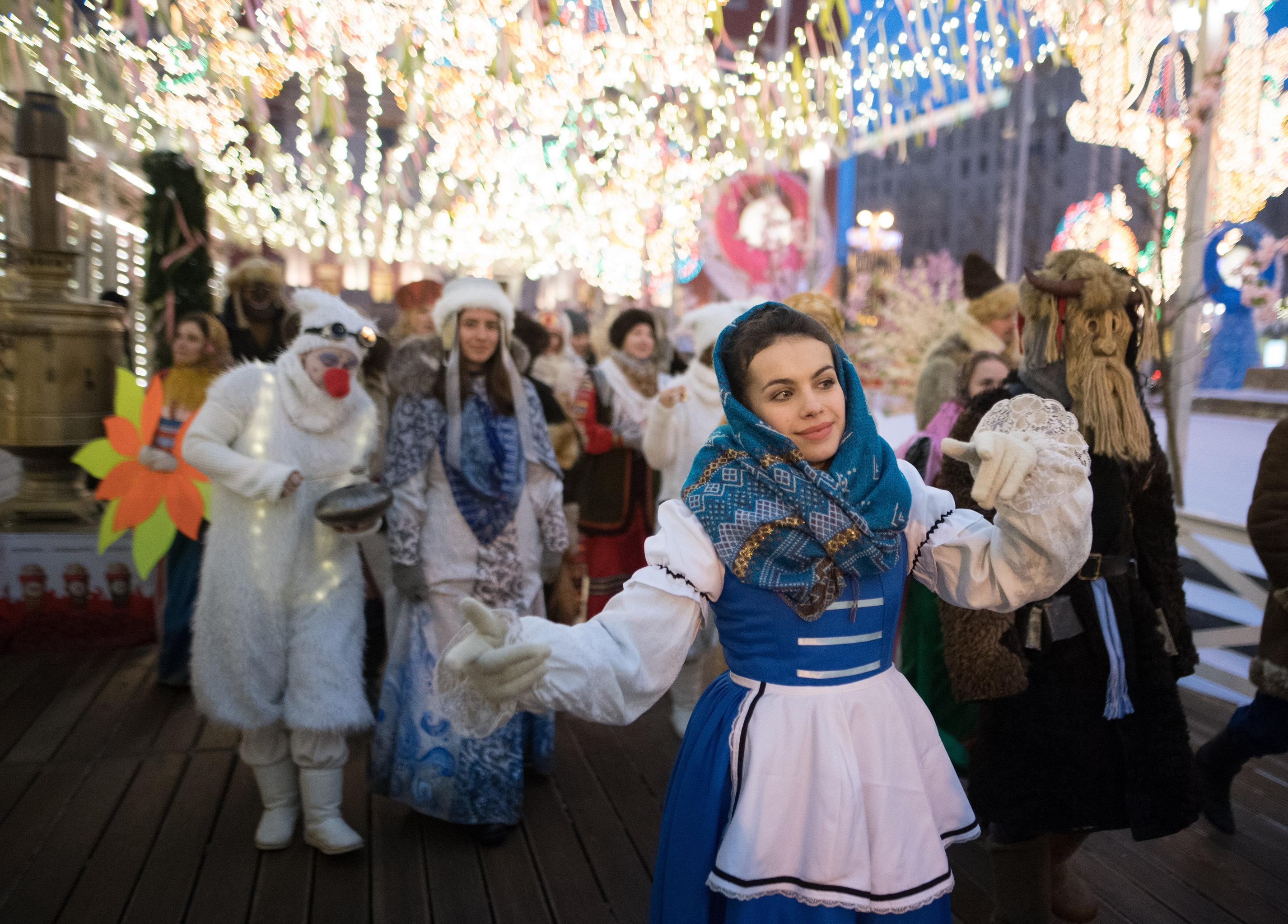 Открытие фестиваля Московская масленица