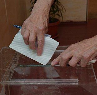 На участке для голосования
