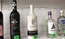 Полка в алкомаркете