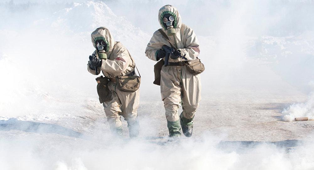 Учения Войск радиационной, биологической и химической защиты