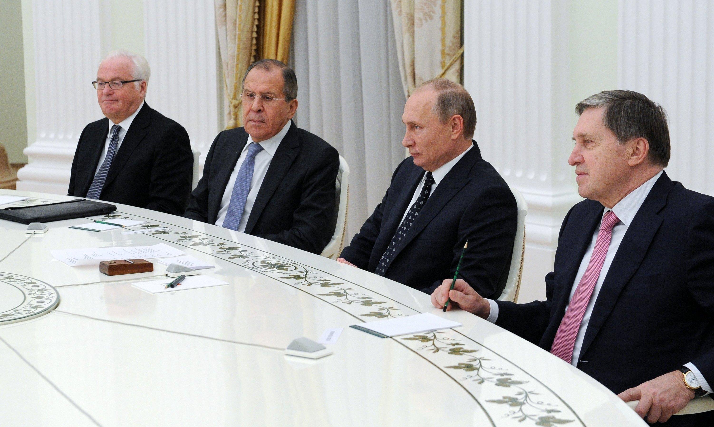 Президент РФ В. Путин встретился с избранным Генсеком ООН А. Гутеррешем