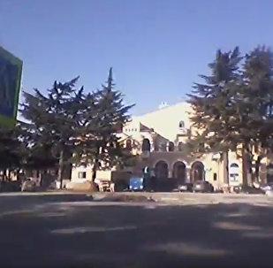 Знакомство с Цхинвалом: Театральная площадь.