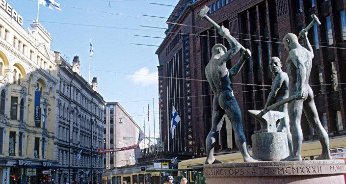 На одной из улиц Хельсинки