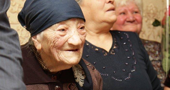 Жительница Южной Осетии 106-летняя Гафи Тедеева