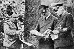 Мартин Борман и Адольф Гитлер