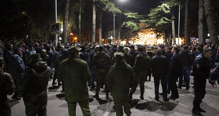 Митинг сторонников Кокойты