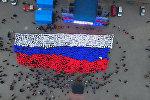 Севастопольцы развернули живой флаг РФ в честь третьей годовщины референдума