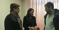 Вдова Цкаева и адвокат ее семьи на встрече с журналистами