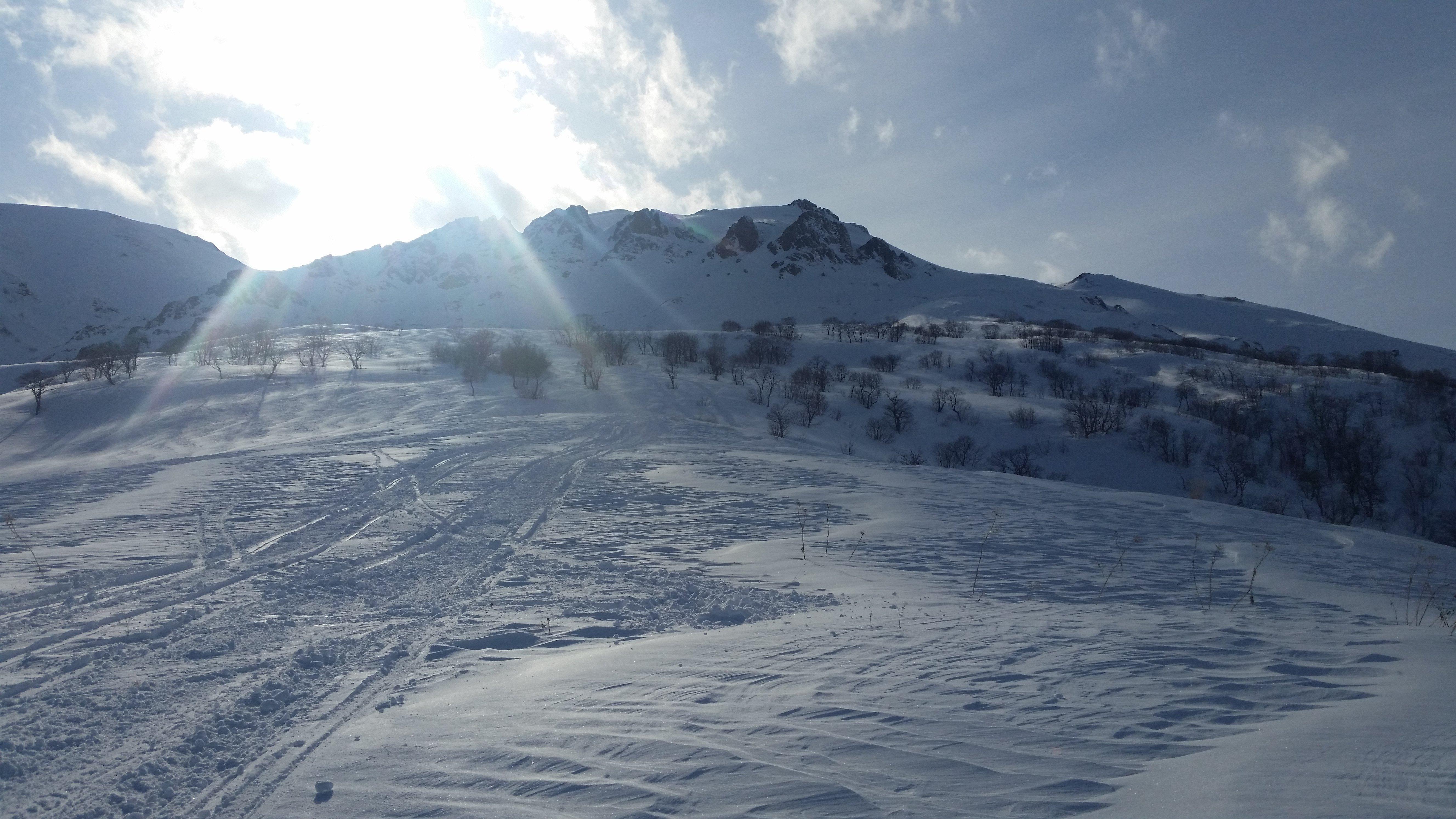 Горный склон в Южной Осетии