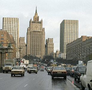 Вид на Смоленскую площадь и здание МИД РФ