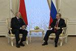 Видеофакт: заявление Путина и Лукашенко в связи со взрывом в Петербурге